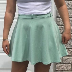 Mint green flowy skirt